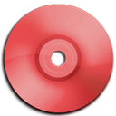 Cd, Dvd, Red icon