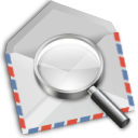 mail, airmail, seek, email, letter, find, envelope, search, message, envelop icon