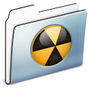 folder, smooth, burnable, graphite icon