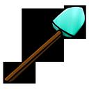 shovel, diamond icon