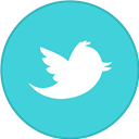 Border, Old, Round, Twitter, With icon