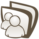 shared, conversation, msn, folder icon