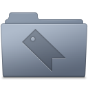 Favorites Folder Graphite icon