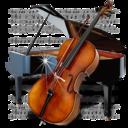 music,piano,chello icon
