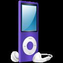 Ipod, Nano, On, Purple icon