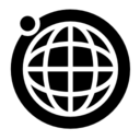 Earth grid with the moon orbit icon