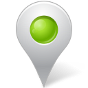 Map Marker Marker Inside Chartreuse icon
