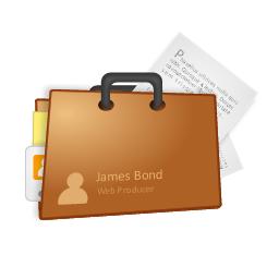 portfolio, briefcase icon