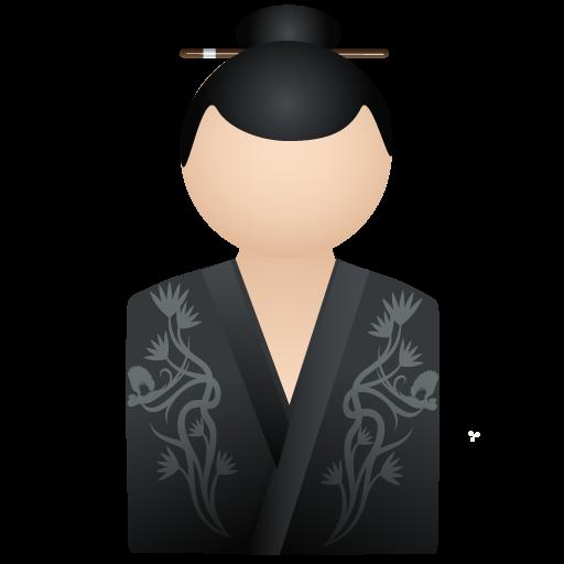 female, person, human, people, profile, user, account, member, kimono, woman, black icon