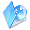 folder, blue, web icon