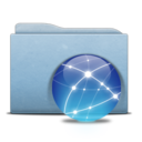 Folder Blue Globe Aqua icon