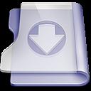 Purple download icon