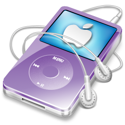 ipod, video, violet, apple icon