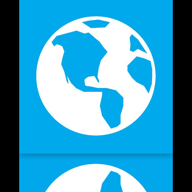 mirror, globe icon
