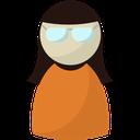 woman, worker, user, secretary, profile, person icon