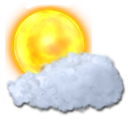 sun, cloud icon