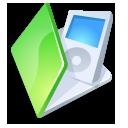 folder ipod green icon