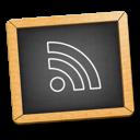 rss, learn, feed, school, education, teach, subscribe, teaching, blackboard, black icon