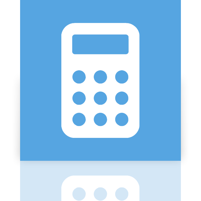 mirror, calculator icon