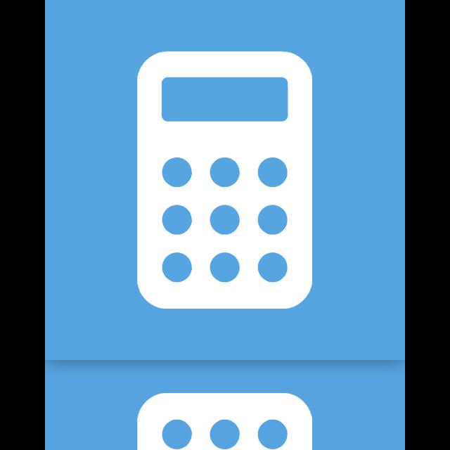 mirror, calculator icon
