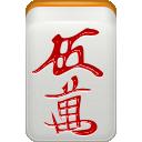 mahjong, dora, man, red icon