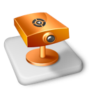 surveillance, color, ms, powerpoint, projector icon