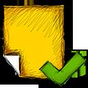 note, accept icon