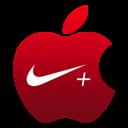 apple, nike icon