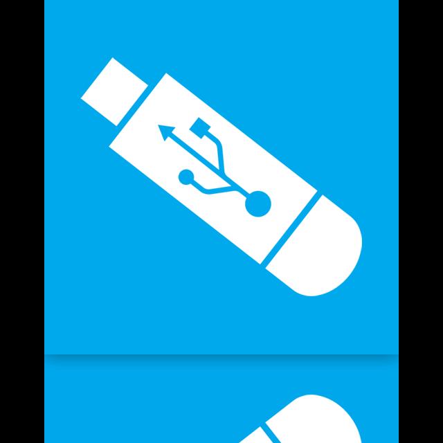 usb, mirror icon