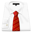 clothing, red, business, shirt, tie, dress icon