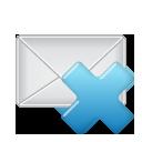 email, del, remove, delete, mail, envelop, letter, message icon