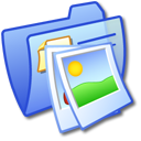 blue, folder, image, pic, photo, picture icon