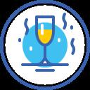 новый год, christmas, year, шампанское, new, бокал, champagne icon