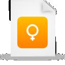 orange, paper, file, document icon