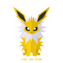 kanto, pokemon, jolteon, electricidad icon