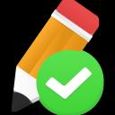 Edit validated icon