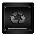 gold, trash, empty icon