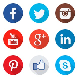 Social Flat icon sets preview