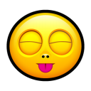 Smiley stick tongue icon