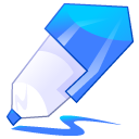 pen, write, edit, paint, writing, blue, pencil, draw icon