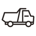 dump truck, vehicle, cargo, transportation, truck, automobile, car, transport, tipper, hauler icon