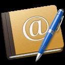 Address Book Oldschool blue icon
