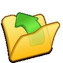 yellow, folder, parent icon