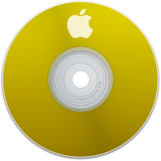 disk, yellow, disc, save, cd, apple, dvd icon