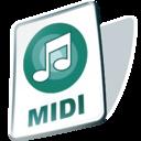 midi,file,paper icon