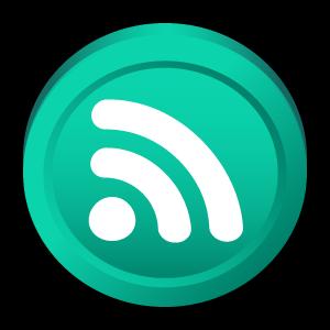 atom, badge, newsfeed icon