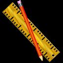 ruler, pen, measure icon