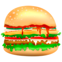 hamburger, burger, junk food, food, fast food icon