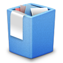 Alt, Blue, Full, Trash icon