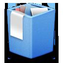 full, blue, trash icon